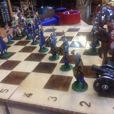 Történelmi ólomkatona sakk készlet - Egri Csillagok