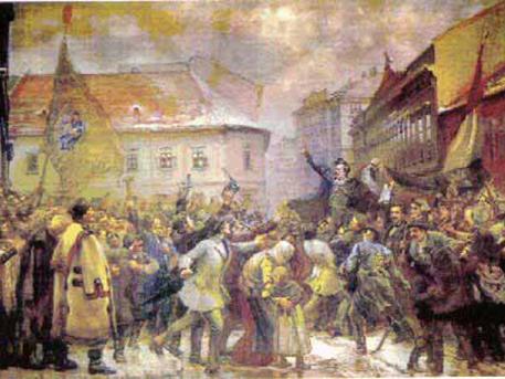 Thorma János, halasi festőművész Talpra Magyar! című alkotása, természetesen a Kiskunhalasi Thorma János Múzeumból