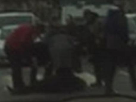 Az összeesett högy a Széna téren