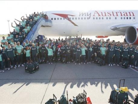 A magyar olimpiai csapat tagjai (fotó: Szigetváry Zsolt - MTI)
