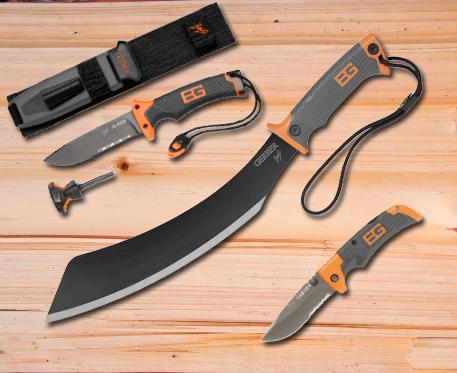 Bear Grylls tőr, machete és zsebkés