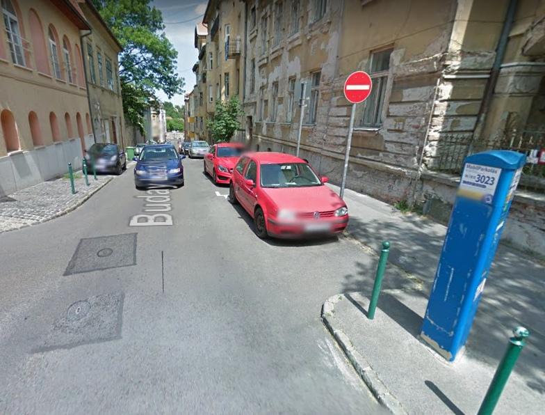 A személyes igénylés helyszíne: Buday László utca (Forrás: Google Utcakép)
