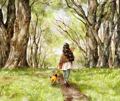 Kép: Sinate Katina, walking the spring road