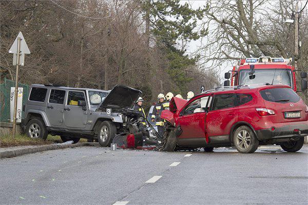 A Konkoly-Thege utcai baleset (fotó: Lakatos Péter - MTI)
